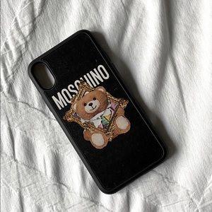 MOSCHINO   iPhone X Case   Black